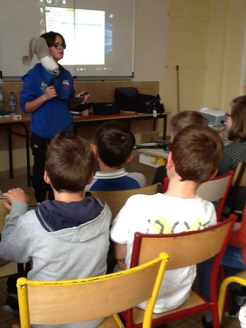 Visite de Katell Alençon à l'école