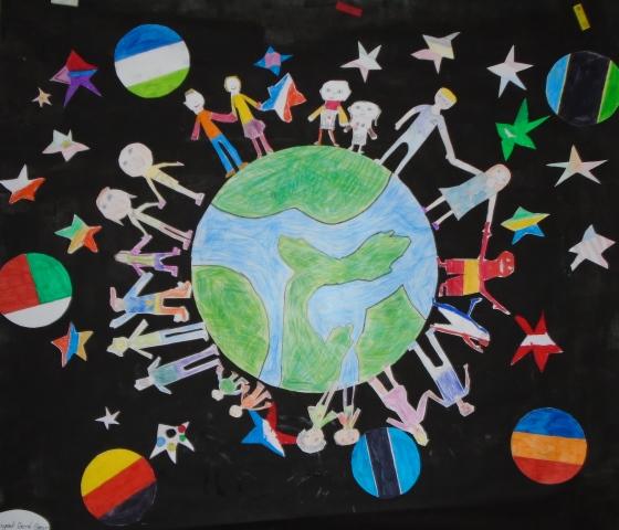 Semaines des solidarités : Réalisation de fresques par les CM