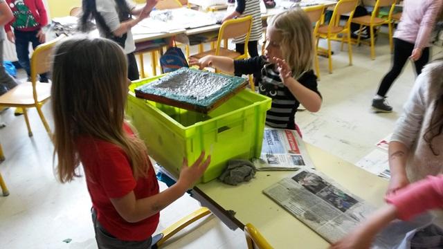 CP B : Fabrication de papier recyclé