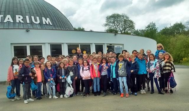 Les élèves de CM1 de l'Argoat en visite au Parc du Radôme à Pleumeur-Bodou