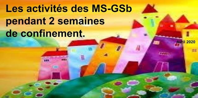 MS/GS B : Durant le confinement
